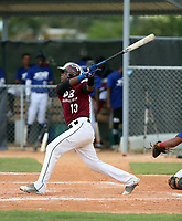Kenny Baez participates in an international showcase hosted by JDB Baseball at the Quality Baseball Academy on February 20, 2018 in Santo Domingo, Dominican Republic (Bill Mitchell)