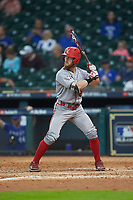 Logan Savoy (28) of the Louisiana Ragin' Cajuns at bat against the Kentucky Wildcats in game seven of the 2018 Shriners Hospitals for Children College Classic at Minute Maid Park on March 4, 2018 in Houston, Texas.  The Wildcats defeated the Ragin' Cajuns 10-4. (Brian Westerholt/Four Seam Images)