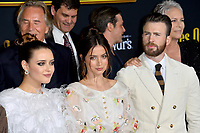 "LOS ANGELES, USA. November 15, 2019: Don Johnson, Katherine Langford, Ana de Armas, Chris Evans & Jamie Lee Curtis at the premiere of ""Knives Out"" at the Regency Village Theatre.<br /> Picture: Paul Smith/Featureflash"