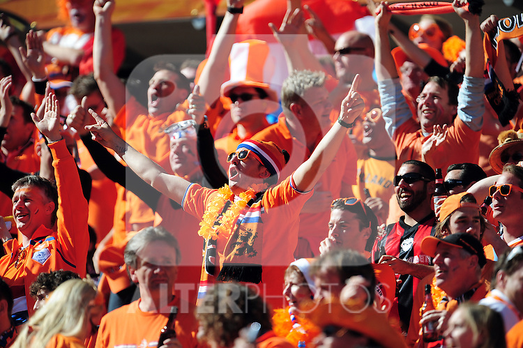Nederland Supporters during the 2010 World Cup Soccer match between Denmark and Nederland played at Soccer City Stadium in Johannesburg South Africa on 14 June 2010.  Photo: Gerhard Steenkamp/Clevia Media. Cell: +27 82 453 2345
