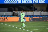 SAN JOSE, CA - SEPTEMBER 19: Daniel Vega #24 of the San Jose Earthquakes celebrates a goal during a game between Portland Timbers and San Jose Earthquakes at Earthquakes Stadium on September 19, 2020 in San Jose, California.