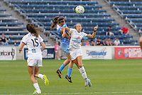 Chicago, IL - Saturday July 30, 2016: Katie Naughton, Shea Groom during a regular season National Women's Soccer League (NWSL) match between the Chicago Red Stars and FC Kansas City at Toyota Park.