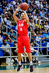 Cheng Ho Hang #18 of SCAA Men's Basketball Team shoots the ball during the Hong Kong Basketball League game between Tycoon and SCAA at Southorn Stadium on May 23, 2018 in Hong Kong. Photo by Yu Chun Christopher Wong / Power Sport Images