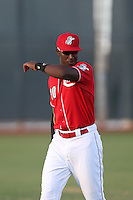 Montrell Marshall (30) of the AZL Reds before a game against the AZL Brewers at Cincinnati Reds Spring Training Complex on July 5, 2015 in Goodyear, Arizona. Reds defeated the Brewers, 9-4. (Larry Goren/Four Seam Images)