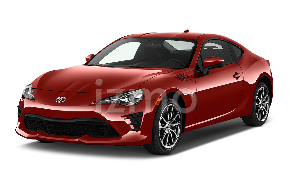 2018 Toyota 86 Automatic 2 Door Coupe Angular Front stock photos of front three quarter view
