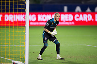 CARSON, CA - SEPTEMBER 19: William Yarbrough #50 GK of the Colorado Rapids yells out diractions during a game between Colorado Rapids and Los Angeles Galaxy at Dignity Heath Sports Park on September 19, 2020 in Carson, California.