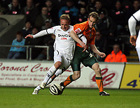 Pictured: Thomas Butler of Swansea City<br /> Picture by D Legakis / Athena Picture Agency, Swansea, 07815441513