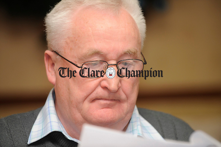 Michael Fitzpatrick, secretary, at the Clare Ladies Football AGM in the West County hotel. Photograph by John Kelly.