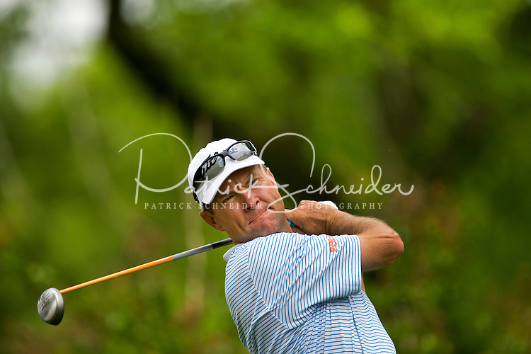 Golfer Davis Love III works the course during the Quail Hollow Championship golf tournament 2009. The event, formerly called the Wachovia Championship, is a top event on the PGA Tour, attracting such popular golf icons as Tiger Woods, Vijay Singh and Bubba Watson. Photo from the second round in the Quail Hollow Championship golf tournament at the Quail Hollow Club in Charlotte, N.C., Friday, May 01, 2009.