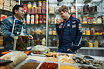 Formula One Triple World Champion Sebastian Vettel Sebastian Vettel investigates 'snake wine' at the Wuzhong vegetables market during his day with Infiniti ahead of the Chinese Grand Prix on 10 April 2013 in Shanghai, China. Photo by Victor Fraile / The Power of Sport Images