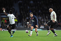 Alex Goode of England chips through during the Old Mutual Wealth Series match between England and Fiji at Twickenham Stadium on Saturday 19th November 2016 (Photo by Rob Munro)