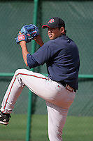 Atlanta Braves minor leaguer Raul Gonzalez during Spring Training at Disney's Wide World of Sports on March 15, 2007 in Orlando, Florida.  (Mike Janes/Four Seam Images)