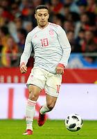Spain's Thiago Alcantara during international friendly match. March 27,2018.(ALTERPHOTOS/Acero) /NortePhoto.com NORTEPHOTOMEXICO