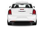 Straight rear view of 2021 Chrysler 300 S 4 Door Sedan Rear View  stock images