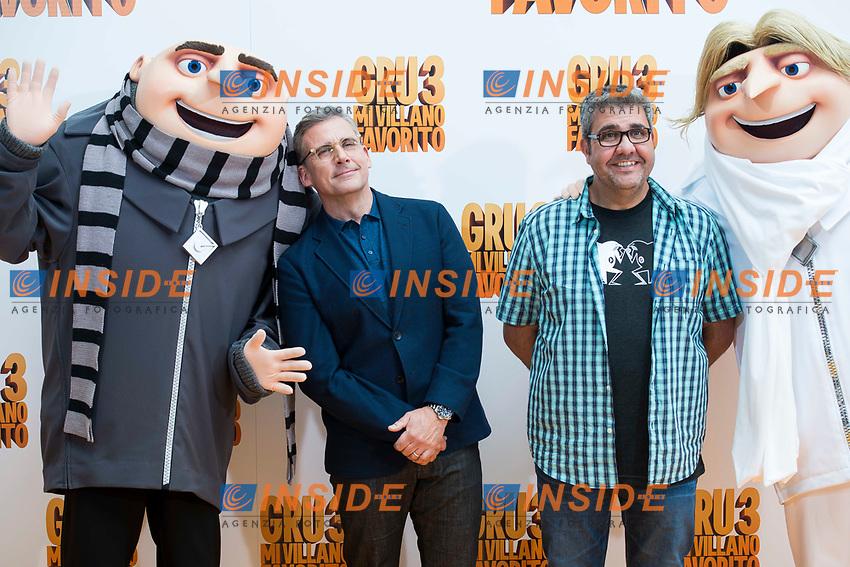 American actor Steve Carrell and spanish actor Florentino Fernandez attends to the presentation of film 'Gru, Mi Villano Favorito 3' (Despicable Me 3 ) in Madrid, June 20, 2017. Spain.<br /> (ALTERPHOTOS/BorjaB.Hojas)<br /> <br /> Cattivissimo 3 Photo Call Madrid <br /> Foto ALTERPHOTOS/BorjaB.Hojas/Insidefoto