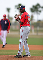 Washington Nationals minor leaguer Shairon Martis during Spring Training at the Carl Barger Training Complex on March 20, 2007 in Melbourne, Florida.  (Mike Janes/Four Seam Images)