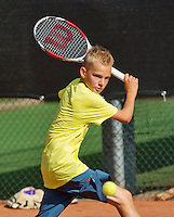 08-08-13, Netherlands, Rotterdam,  TV Victoria, Tennis, NJK 2013, National Junior Tennis Championships 2013,    Mike Diks<br /> <br /> <br /> Photo: Henk Koster