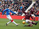 26.01.2020 Hearts v Rangers: Ryan Kent and Craig Halkett