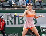 Maria Sharapova (RUS) dispatches Paula Ormaechea (ARG) 6-0, 6-0 in only 50 minutes at  Roland Garros being played at Stade Roland Garros in Paris, France on May 30, 2014