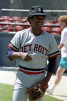 Detroit Lions Lou Whitaker during spring training circa 1989 at Chain of Lakes Park in Winter Haven, Florida.  (MJA/Four Seam Images)