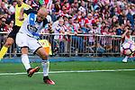 """Deportivo de la Coruña's player Laureano """"Laure"""" Sanabria during a match of La Liga Santander at Vicente Calderon Stadium in Madrid. September 25, Spain. 2016. (ALTERPHOTOS/BorjaB.Hojas)"""