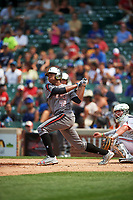 Hunter Greene (42) of Notre Dame High School in Stevenson Ranch, California during the Under Armour All-American Game presented by Baseball Factory on July 23, 2016 at Wrigley Field in Chicago, Illinois.  (Mike Janes/Four Seam Images)