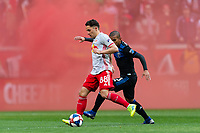 Harrison, NJ - Saturday March 16, 2019:  A regular season MLS match between the New York Red Bulls and the San Jose Earthquakes at Red Bull Arena.