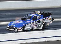 Feb. 16, 2013; Pomona, CA, USA; NHRA funny car driver Robert Hight during qualifying for the Winternationals at Auto Club Raceway at Pomona.. Mandatory Credit: Mark J. Rebilas-