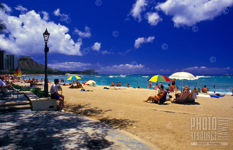 Waikiki beach by the Banyan Tree Court Sheraton Moana Hotel