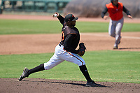 FCL Orioles Black pitcher Luis Ortiz (40) during a game against the FCL Orioles Orange on July 10, 2021 at Ed Smith Stadium in Sarasota, Florida.  (Mike Janes/Four Seam Images)