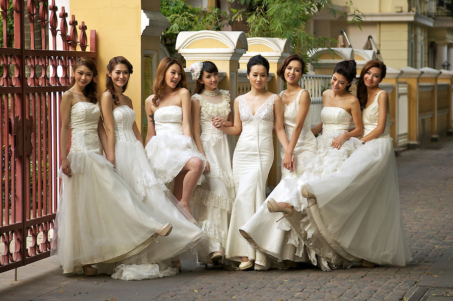 Wedding Photograph At Our Lady Of Lourdes Church, Shamian, Guangzhou, China.