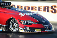 May 18, 2012; Topeka, KS, USA: Detailed view of the front end of the Toyota Camry driven by NHRA funny car driver Cruz Pedregon during qualifying for the Summer Nationals at Heartland Park Topeka. Mandatory Credit: Mark J. Rebilas-