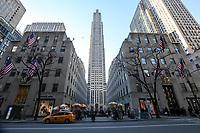 NEW YORK, NY, 19.03.2017 - ROCKEFELLER-PLAZA - Vista da fachada do Rockefeller Plaza em Manhattan na cidade de New York neste domingo, 19. (Foto: Vanessa Carvalho/Brazil Photo Press)