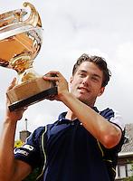 13-7-08, Scheveningen, ITS, Tennis Siemens Open 2008,  Jesse Huta Galung met de trofee
