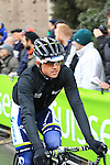 Defending Champion Simon Gerrans (AUS) Orica Greenedge at the sign on before the start of the 104th edition of the Milan-San Remo cycle race at Castello Sforzesco in Milan, 17th March 2013 (Photo by Eoin Clarke 2013)