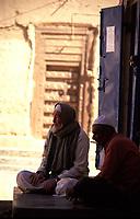 Yemen, Waid Doan-Rashid,,men at the house door