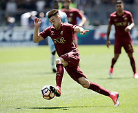 Calcio, Serie A: Roma, stadio Olimpico, 30 aprile 2017.<br /> AS Roma's Stephan El Shaarawy in action during the Italian Serie A football match between AS Roma an Lazio at Rome's Olympic stadium, April 30 2017.<br /> UPDATE IMAGES PRESS/Isabella Bonotto