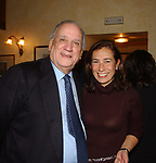 """ALFREDO BIONDI CON CESARA BUONAMICI<br /> 75° COMPLEANNO DI LINO JANNUZZI - """"DA FORTUNATO AL PANTHEON"""" ROMA 2003"""