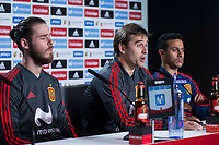 Spain coach Julen Lopetegui, David de Gea and Thiago Alcantara during press conference the day before Spain and Argentina match at Wanda Metropolitano in Madrid , Spain. March 26, 2018. (ALTERPHOTOS/Borja B.Hojas) /NortePhoto NORTEPHOTOMEXICO