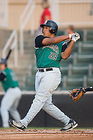 Designated hitter Thomas Neal (29) of the Augusta GreenJackets follows through on his swing at Fieldcrest Cannon Stadium in Kannapolis, NC, Wednesday August 20, 2008. (Photo by Brian Westerholt / Four Seam Images)