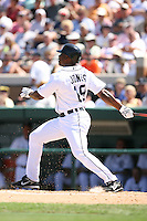 March 21st 2008:  Jacque Jones of the Detroit Tigers during Spring Training at Joker Marchant Stadium in Lakeland, FL.  Photo by:  Mike Janes/Four Seam Images