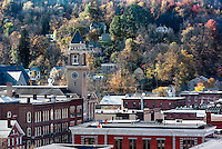 Autum view of downtown Montpelier., Vermont, USA.
