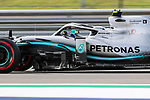 Mercedes AMG Petronas Motorsport driver Valtteri Bottas (77) of Finland in action during the Formula 1 Emirates United States Grand Prix practice session held at the Circuit of the Americas racetrack in Austin,Texas.