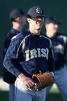 February 26, 2010:  Billy Boockford of the Notre Dame Fighting Irish during the Big East/Big 10 Challenge at Jack Russell Stadium in Clearwater, FL.  Photo By Mike Janes/Four Seam Images