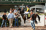 September 12, 2015:  Cocked and Loaded and jockey Emmanuel Esquivel win the 34th running of the Iroquois Grade 3 $150,000 for 2 year old colts at Churchill Downs for trainer Larry Rivelli and owner Richard Ravin and Patricia's Hope LLC.  Candice Chavez/ESW/CSM
