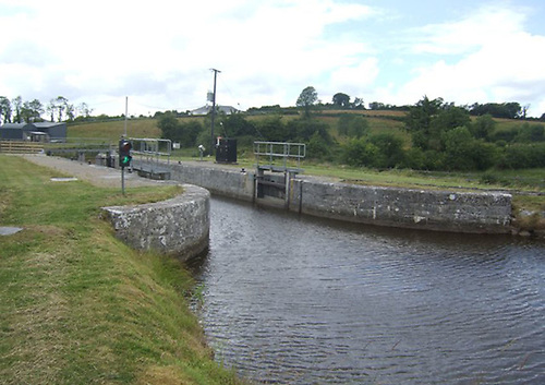File image of Lock 15 on the Shannon Erne Waterway at Tirmactiernan
