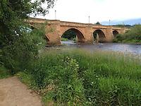 Corbridge, England, UK.  Bridge over the River Tyne.  Built 1674, widened in 1881.