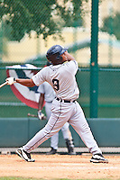 Gabriel Purroy of the Gulf Coast League Tigers during the game against the Gulf Coast League Braves July 3 2010 at the Disney Wide World of Sports in Orlando, Florida.  Photo By Scott Jontes/Four Seam Images
