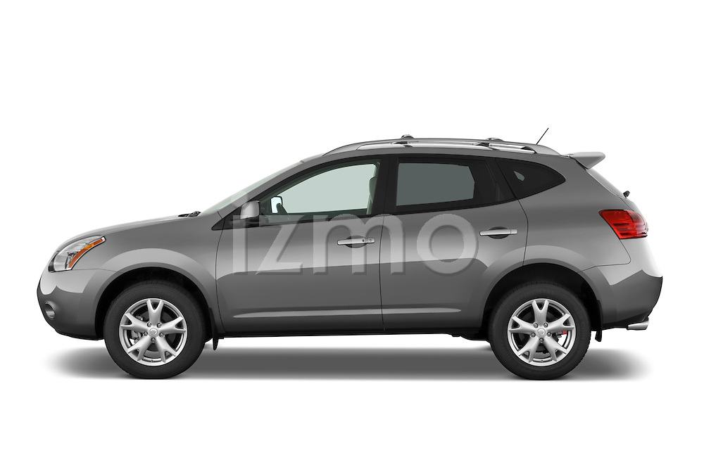 Driver side profile view of a 2009 Nissan Rogue SL.