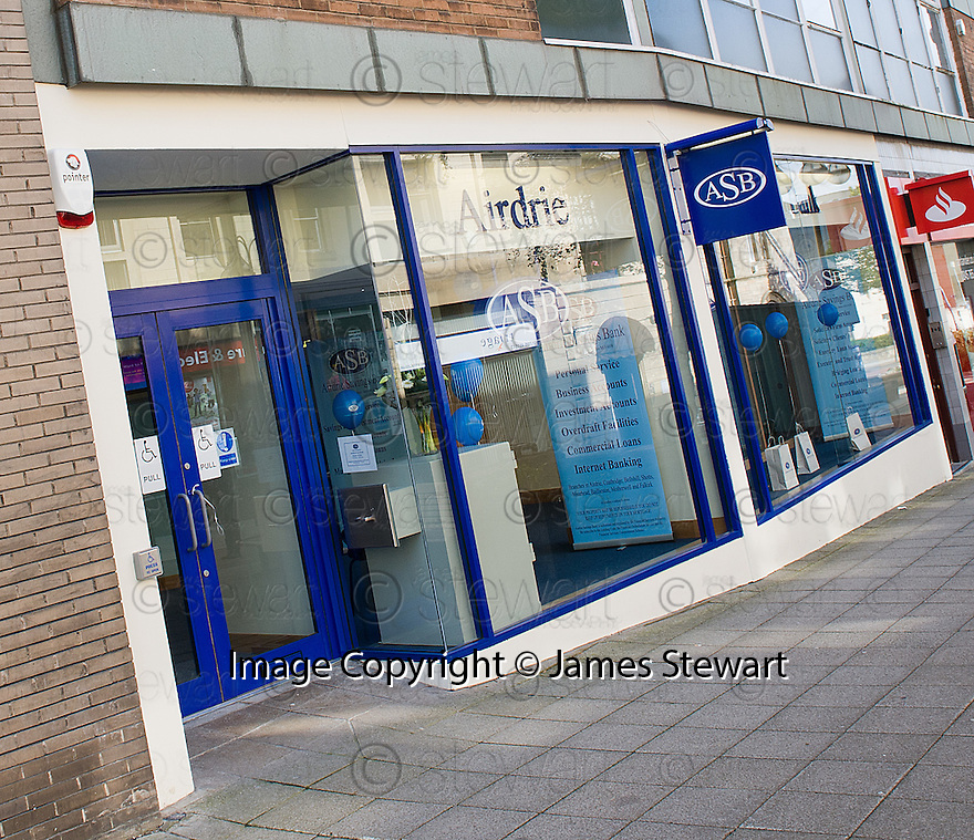 THE NEW AIRDRIE SAVINGS BANK IN FALKIRK.<br /> <br /> THE BRANCH IS THE FIRST TO BE OPENED OUTSIDE THE UK'S ONLY INDEPENDENT BANK'S TRADITIONAL LANARKSHIRE BASE.